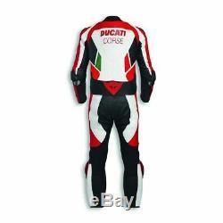 RTX Motorcycle Ducati Corse Cowhide leather suit CE Armour Motorbike MotoGP Size