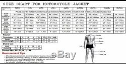 RTX YAMAHA Motorcycle leather jacket for men protection Motorbike Cowhide Racer