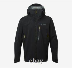 Rab Mens Firewall Waterproof Breathable Jacket Size Uk L Black Brand New C73