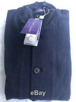 Ralph Lauren Purple Label Skeet Jacket Cashmere Navy Wool Button Bomber