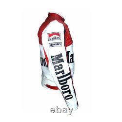 Rare Marlboro Man Formula Racing McQueen Leather Jacket Indian Motorcycle