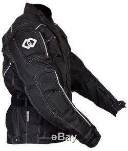 Raven Textile Motorcycle Armoured Jacket Cordura Fabric Biker Advanced Black