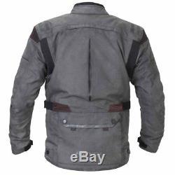 Rayven Tucson Deluxe Waterproof Touring Motorcycle Jacket Vintage Grey SALE
