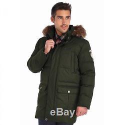 Regatta Mens Andram Waterproof Down Insulated Parka Jacket Green RRP £180
