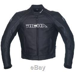 Richa Black Leather jacket Sniper Leather motorcycle/motorbike jacket £100 Off