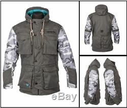 Spada Humma Breathable Textile Motorcycle Motorbike Touring Jacket Camo/Grey