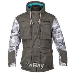 Spada Humma Waterproof Motorcycle Jacket Camo Motorbike Coat Grey Thermal