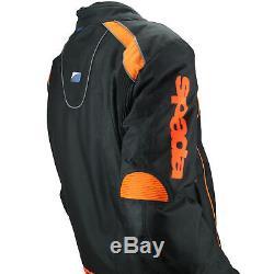 Spada Plaza Textile Waterproof Motorcycle Textile Jacket Black/KTM Orange