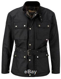 Speedwear Classic Wax Cotton Vintage Style Motorcycle Jacket
