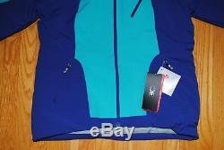 Spyder Amp Ski Jacket 554234 Blue Baltic Thinsulate Spylon ProWEB Women's L NEW