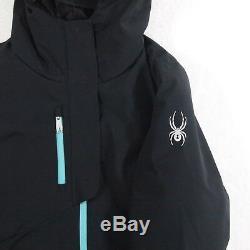 Spyder Womens Hayden Ski Jacket Size XL Black Insulated Waterproof Winter