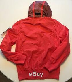 Stone Island Harrington Jacket in Coral, Size S, Made in Italy, New with Tags