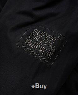 Superdry Men's Black Microfibre SD Windattacker Full Zip Hooded Jacket