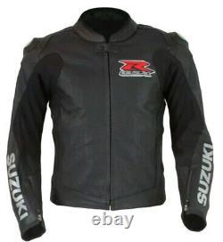 Suzuki Motorcycle Jacket Leather Motorbike Biker Racing Jacket Armour Protection