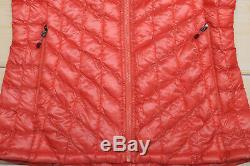 THE NORTH FACE THERMOBALL HOODIE PRIMALOFT down WOMEN'S SPICED CORAL JACKET S