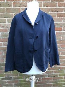 TOAST Womens Cotton & Linen Twill Navy Blue Blazer Jacket Sz UK 14 New With Tags