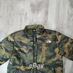The North Face Junction Insulated Jacket men Size Large camo olive