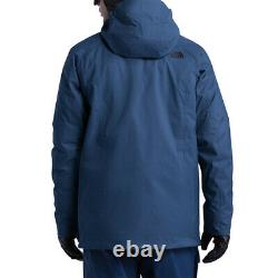 The North Face Men's LARGE Thermoball Eco Snow Triclimate 3 in 1 Jacket Blue NEW
