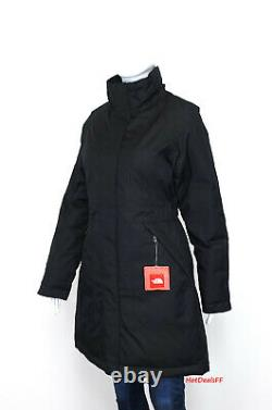 The North Face Women's Arctic 550 Down Waterproof DryVent Parka Jacket Black NEW