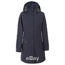 Trespass Womens Waterproof Jacket Longline Hooded Raincoat XXS-XXXL
