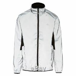 Trespass Zig Mens Reflective Jacket High Visibility & Water Resistant in Grey