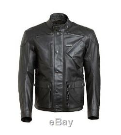 Triumph Beaufort 2 Black Leather Motorcycle Jacket New MLHS18112