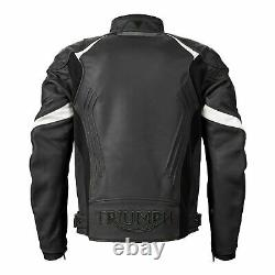 Triumph Leather Triple Motorcycle Jacket Mlps20530 XL