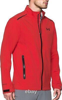 Under Armour Paclite GTX Mens Golf Jacket Red GORE-TEX Waterproof Windproof XL