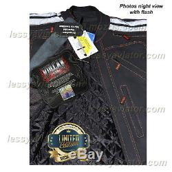 Vulcan VTZ 910 Motorcycle Jacket Mens Black Premium leather Armoured Waterproof