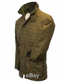 Walker & Hawkes Mens Derby Tweed Shooting Hunting Jacket Coat Beige