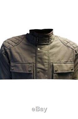 Warrior Classic Motorcycle Waxed Cotton Motorbike Cotton Waxed Waterproof Jacket