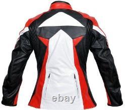 Women Jacket Motorcycle Leather Rider Motorbike Protection Biker Leather Jacket