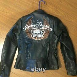 Women's Harley Davidson Moxie Leather Riding Jacket. Size 1 W