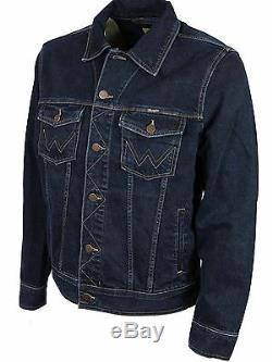 Wrangler Brand New Mens Darkstone-wash Denim Jackets Latest Sizes S To 4xl