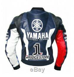 YAMAHA Motorbike/Motorcycle Mens Leather Jacket Biker Racing Leather Jackets