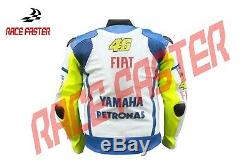 Yamaha Fiat Vr46 Rossi Mens Motorbike Motorcycle Racing Leather Jacket Xs 3xl