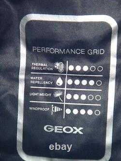 £190 Geox Respira Mens Jacket M7428m Taille 60 Camo Print Breathable System Nouveau