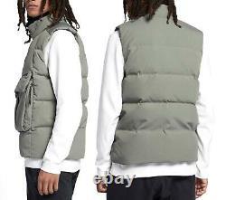 $200 Nike Sportswear Nsw Tech Pack Down Fill Sherpa Vest 928909-004 Stucco XL
