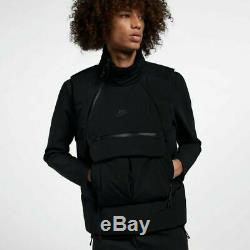 200 $ Vêtements De Sport Nike Tech Compacter-fill Gilet 928909-010 Hommes Noir 4xl