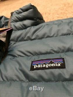 230 $ Patagonia Veste En Duvet Pour Homme Teal Extra Large Nouveau Tn-o. XL