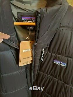 249 $ Nwt Patagonia Mens Hyper Manteau De Veste Parka Brand New Noir Grand L