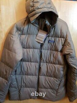 279 $ T.n.-o. Patagonia Hommes Silent Down Jacket Brand New Green Medium Recycled Down