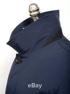 2995 $ Tno Veste Trench Coat Storm System Isaia Blue Super 150 Pour M / L