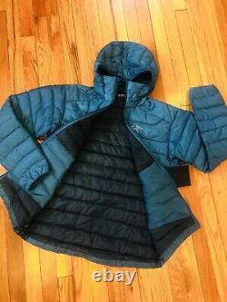 $379 Nouveau! Arcteryx Homme Cerium Lt Hoody Jacket850 Goose Down Fill(s)iliad Bleu