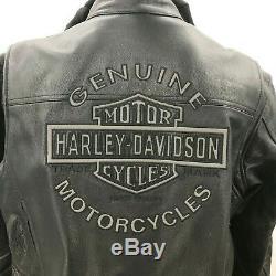525 $ Nouveau Withtags Harley Davidson Road Warrior Réfléchissant Veste En Cuir XL Hoodie