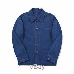 60 Vintage French Blue Jackets Travailleurs Chore Hommes Indigo Veste Manteau Outwear