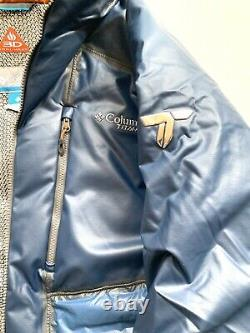 $650 Columbia Titanium Outdry Ex Diamond Piste Down Blue Jacket Taille Homme Grand