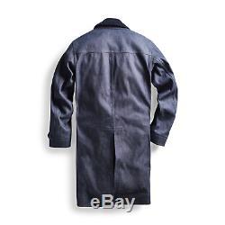 $ 995 Rrl Ralph Lauren Japonais Indigo Raw Denim Raincoat Veste L Homme Grand