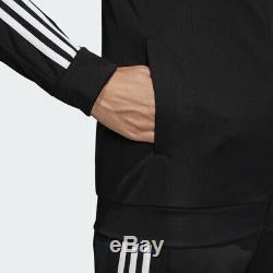 Adidas Femmes Wts Équipe Sportive Survêtement Pantalon Veste Noire Blanc 3 Stripe Dv2431