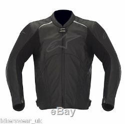 Alpinestars Avant Black Leatherjacket Veste D'été Perforée Le Moins Cher Sur Ebay
